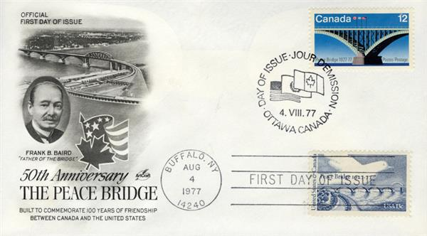 1977 Joint Issue - US and Canada - 50th Anniversary of The Peace Bridge