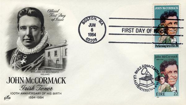 1984 Joint Issue - US and Ireland - John McCormack, Irish Tenor