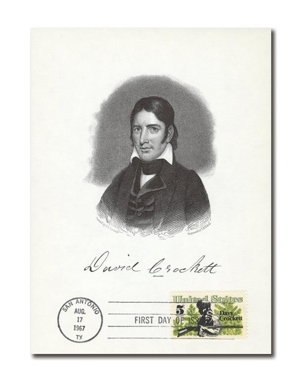 1967 Crockett First Day Stamped Portrait