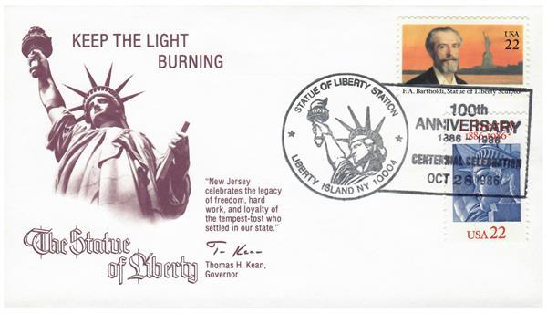 1986 Statue of Liberty Centennial Cover