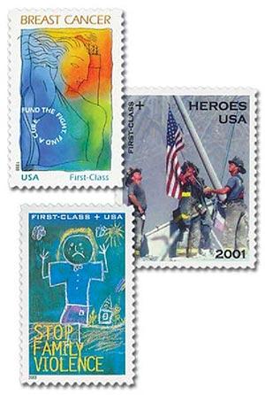 1998-2003 U.S. Semi-Postal Stamps