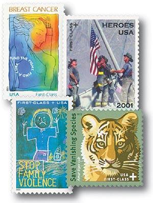1998-2011 U.S. Semi-Postal Stamps