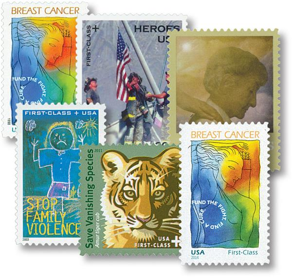 1998-2017 U.S. Semi-Postal Stamps