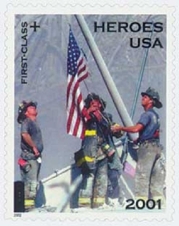 2002 34c & 11c Semipostal - Heroes of 2001, non denominated