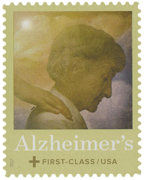 2017 49c & 11c Semipostal - Alzheimers Research