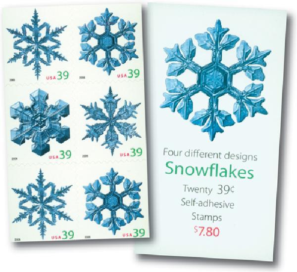 2006 39c Snowflakes, vend. bklt of 20