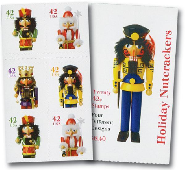 2008 42c Holiday Nutcrackers - vend. bkl