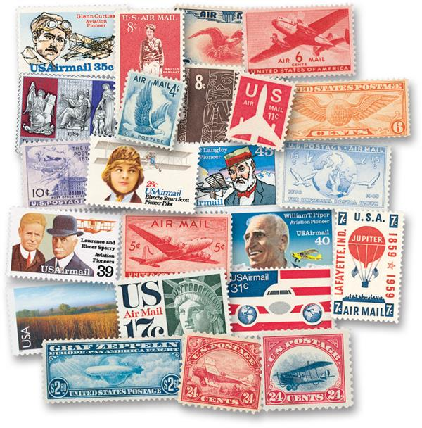 1918-2012 US Airmail Collection, Complete Set of 153 Stamps and FREE Mounts