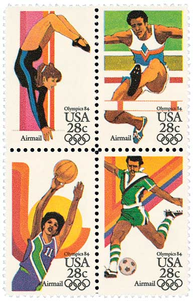 1983 28c Summer Olympics 84 Se-ten of 4