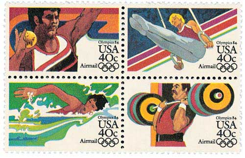 1983 40c Summer Olympics 84 Se-ten of 4