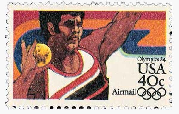 1983 40c Shot Put, 1984 Olympics
