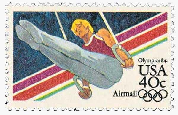 1983 40c Men's Gymnastics, 1984 Olympics