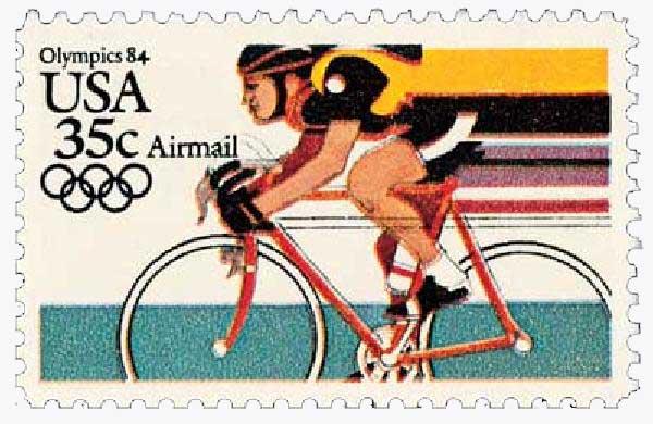 1983 35c Cycling, 1984 Olympics