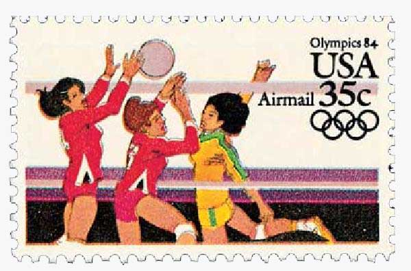 1983 35c Womens Volleyball, 1984 Olymp