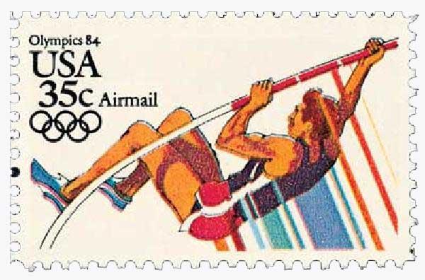 1983 35c Pole Vaulting, 1984 Olympics