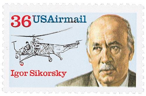 1988 36c Igor Sikorsky Airmail