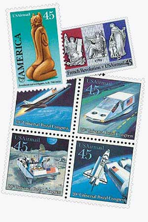 1989 45c Commemoratives - 6 Stamps