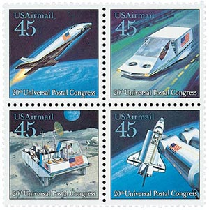 1989 45c Future Mail Transp.