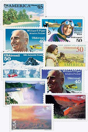 1990-2000 Airmail, set of 9