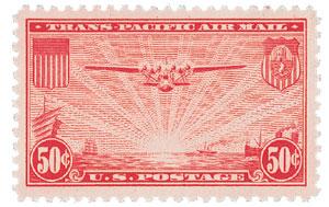 1937 50c Trans-Pacific carmine
