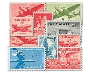 1941-57 Airmails, 10 Stamps