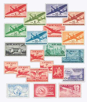 1940s Airmail Collection, 21v Mint