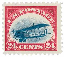 U.S. #C3 – America's first Airmail stamps were issued seven years after Ovington's flight.