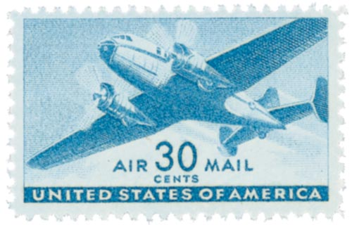 1941 30c Rotary Press blue