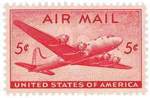 1946 5c DC 4 Skymaster For Sale At Mystic Stamp Company
