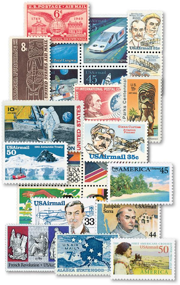 1949-93 US Airmail Commemorative stamps (58)