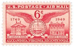 1949 6c Airmail Alexandria, VA