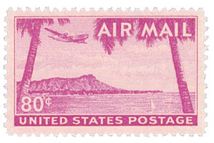 1952 80c Airmail Diamond Head