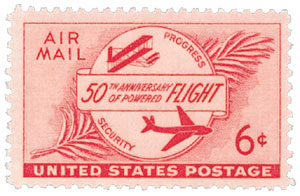 1953 6c Airmail Powered Flight