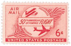1953 6c Airmail Powered Flight