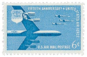 1957 6c Airmail Air Force