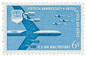 1957 6c Airmail Air Force
