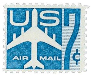 1958 7c Airmail Jet blue