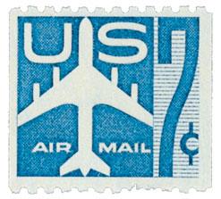 1958 7c Jet Perf 10H blue