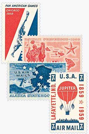 1959 Commemoratives 4V