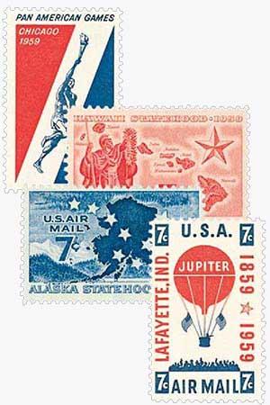 1959 Commemoratives 4V