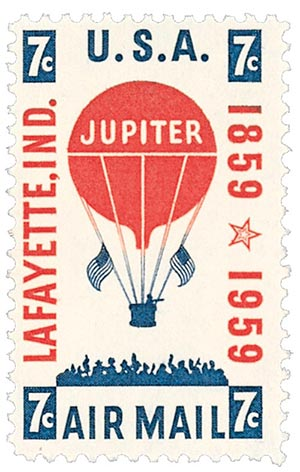 1959 7c Balloon Jupiter