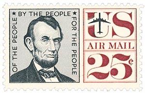 1959-61 25c Abraham Lincoln