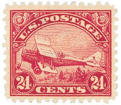 1923 24c Airmail carmine