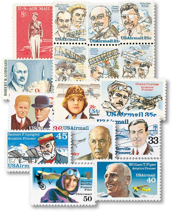1963-91 American Aviation Pioneer Stamps