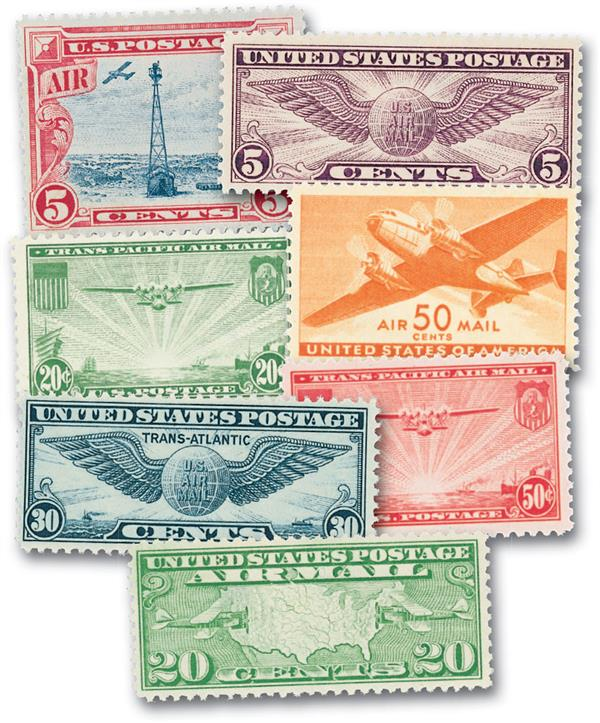 1918-2012 US Airmail Collection, Set of 143 Stamps