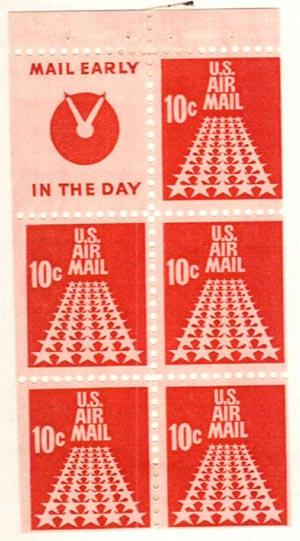 1968 10c Commemorative Bklt pane 5+label