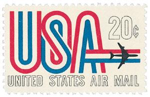 """1968 20c """"USA"""""""