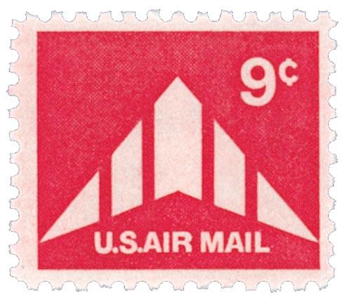 1971-73 9c Delta Wing