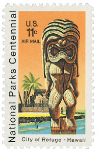 City of Refuge National Historic Park stamp