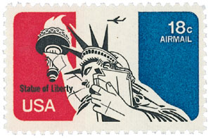 1974-76 18c Statue of Liberty